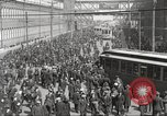 Image of trolleys outside factory United States USA, 1918, second 22 stock footage video 65675063746