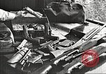 Image of Items in car of Clyde Barrow and Bonnie Parker Arcadia Louisiana USA, 1934, second 12 stock footage video 65675063769