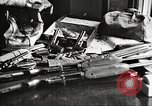 Image of Items in car of Clyde Barrow and Bonnie Parker Arcadia Louisiana USA, 1934, second 38 stock footage video 65675063769