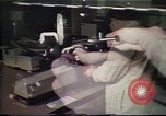 Image of Federal Bureau of Investigation fingerprint analysis Washington DC USA, 1977, second 46 stock footage video 65675063776