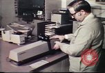 Image of Federal Bureau of Investigation fingerprint analysis Washington DC USA, 1977, second 49 stock footage video 65675063776