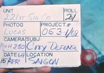 Image of United States soldiers Saigon Vietnam, 1969, second 8 stock footage video 65675063782