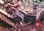 Image of US 5th Marines use winch to pull armored vehicle uphill Talasea New Britain Papua New Guinea, 1944, second 32 stock footage video 65675063814