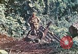 Image of US 5th Marines use winch to pull armored vehicle uphill Talasea New Britain Papua New Guinea, 1944, second 39 stock footage video 65675063814