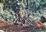 Image of US 5th Marines use winch to pull armored vehicle uphill Talasea New Britain Papua New Guinea, 1944, second 40 stock footage video 65675063814