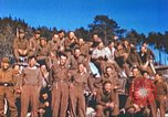 Image of Repatriated American prisoners of war pose for pictures Germany, 1945, second 35 stock footage video 65675063832