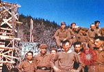 Image of Repatriated American prisoners of war pose for pictures Germany, 1945, second 51 stock footage video 65675063832