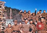Image of Repatriated American prisoners of war pose for pictures Germany, 1945, second 54 stock footage video 65675063832