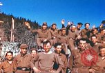 Image of Repatriated American prisoners of war pose for pictures Germany, 1945, second 56 stock footage video 65675063832
