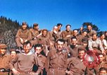 Image of Repatriated American prisoners of war pose for pictures Germany, 1945, second 60 stock footage video 65675063832