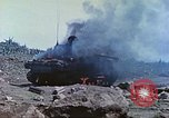 Image of Japanese artillery fires at U.S. tanks Iwo Jima, 1945, second 16 stock footage video 65675063846