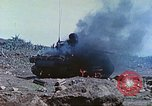 Image of Japanese artillery fires at U.S. tanks Iwo Jima, 1945, second 17 stock footage video 65675063846