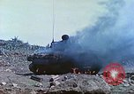 Image of Japanese artillery fires at U.S. tanks Iwo Jima, 1945, second 20 stock footage video 65675063846