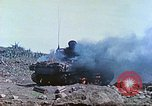 Image of Japanese artillery fires at U.S. tanks Iwo Jima, 1945, second 22 stock footage video 65675063846