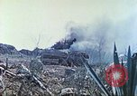 Image of Japanese artillery fires at U.S. tanks Iwo Jima, 1945, second 23 stock footage video 65675063846