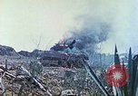 Image of Japanese artillery fires at U.S. tanks Iwo Jima, 1945, second 26 stock footage video 65675063846