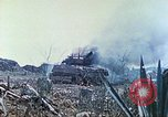 Image of Japanese artillery fires at U.S. tanks Iwo Jima, 1945, second 28 stock footage video 65675063846