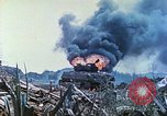 Image of Japanese artillery fires at U.S. tanks Iwo Jima, 1945, second 38 stock footage video 65675063846