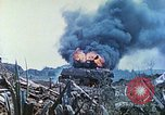 Image of Japanese artillery fires at U.S. tanks Iwo Jima, 1945, second 39 stock footage video 65675063846