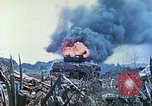 Image of Japanese artillery fires at U.S. tanks Iwo Jima, 1945, second 40 stock footage video 65675063846