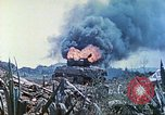 Image of Japanese artillery fires at U.S. tanks Iwo Jima, 1945, second 41 stock footage video 65675063846