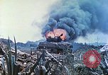 Image of Japanese artillery fires at U.S. tanks Iwo Jima, 1945, second 42 stock footage video 65675063846