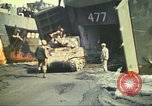 Image of 3rd Marine Division tanks come ashore  Iwo Jima, 1945, second 13 stock footage video 65675063851