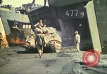Image of 3rd Marine Division tanks come ashore  Iwo Jima, 1945, second 15 stock footage video 65675063851