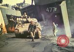 Image of 3rd Marine Division tanks come ashore  Iwo Jima, 1945, second 17 stock footage video 65675063851