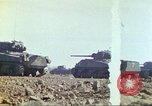 Image of 3rd Marine Division Sherman tanks fire at Japanese positions Iwo Jima, 1945, second 18 stock footage video 65675063852