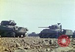 Image of 3rd Marine Division Sherman tanks fire at Japanese positions Iwo Jima, 1945, second 20 stock footage video 65675063852
