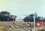 Image of 3rd Marine Division Sherman tanks fire at Japanese positions Iwo Jima, 1945, second 23 stock footage video 65675063852