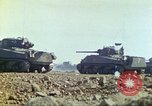 Image of 3rd Marine Division Sherman tanks fire at Japanese positions Iwo Jima, 1945, second 24 stock footage video 65675063852