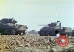 Image of 3rd Marine Division Sherman tanks fire at Japanese positions Iwo Jima, 1945, second 25 stock footage video 65675063852