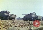 Image of 3rd Marine Division Sherman tanks fire at Japanese positions Iwo Jima, 1945, second 26 stock footage video 65675063852