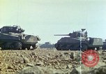 Image of 3rd Marine Division Sherman tanks fire at Japanese positions Iwo Jima, 1945, second 27 stock footage video 65675063852