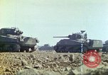 Image of 3rd Marine Division Sherman tanks fire at Japanese positions Iwo Jima, 1945, second 28 stock footage video 65675063852