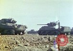 Image of 3rd Marine Division Sherman tanks fire at Japanese positions Iwo Jima, 1945, second 30 stock footage video 65675063852