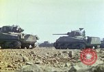 Image of 3rd Marine Division Sherman tanks fire at Japanese positions Iwo Jima, 1945, second 31 stock footage video 65675063852