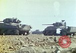 Image of 3rd Marine Division Sherman tanks fire at Japanese positions Iwo Jima, 1945, second 32 stock footage video 65675063852