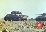 Image of 3rd Marine Division Sherman tanks fire at Japanese positions Iwo Jima, 1945, second 33 stock footage video 65675063852