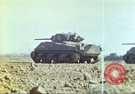Image of 3rd Marine Division Sherman tanks fire at Japanese positions Iwo Jima, 1945, second 34 stock footage video 65675063852