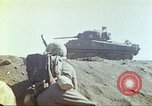 Image of 3rd Marine Division Sherman tanks fire at Japanese positions Iwo Jima, 1945, second 39 stock footage video 65675063852