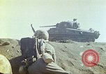 Image of 3rd Marine Division Sherman tanks fire at Japanese positions Iwo Jima, 1945, second 40 stock footage video 65675063852