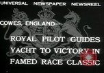 Image of Regatta Cowes England, 1932, second 6 stock footage video 65675068206