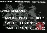 Image of Regatta Cowes England, 1932, second 7 stock footage video 65675068206