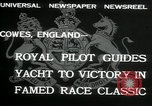 Image of Regatta Cowes England, 1932, second 9 stock footage video 65675068206