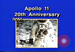 Image of 20th Anniversary of Apollo 11 United States USA, 1989, second 43 stock footage video 65675069518