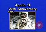 Image of 20th Anniversary of Apollo 11 United States USA, 1989, second 46 stock footage video 65675069518