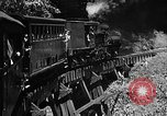 Image of Steam locomotive pushing a train backwards Taiwan, 1940, second 14 stock footage video 65675069924